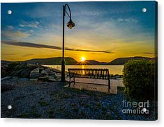 Sunset Along The Hudson Valley Acrylic Print