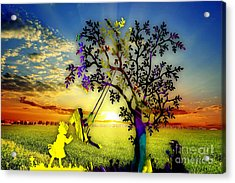 Sunset And Play Acrylic Print by Marvin Blaine