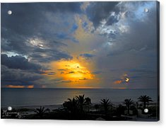 Acrylic Print featuring the photograph Sunset And Rain by Mariarosa Rockefeller