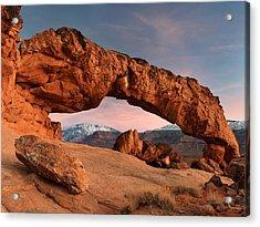 Sunset Arch Acrylic Print by Leland D Howard