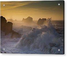 Sunset. Arnia. Cantabria. Spain Acrylic Print