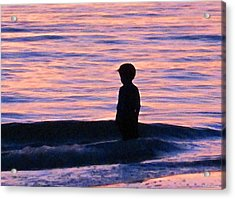 Sunset Art - Contemplation Acrylic Print by Sharon Cummings
