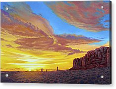 Sunset At Arches Acrylic Print by Paul Krapf