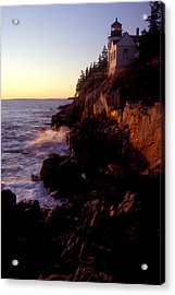 Sunset At Bass Harbor Lighthouse Acrylic Print by Brent L Ander