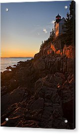 Sunset At Bass Head   Acrylic Print by Priscilla Burgers