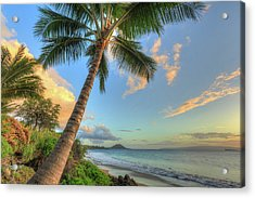 Sunset At Beach, Wailea, Maui, Hawaii Acrylic Print by Stuart Westmorland