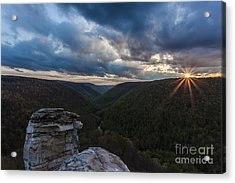 Sunset At Blackwater Falls State Park Acrylic Print by Amber Kresge