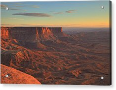 Acrylic Print featuring the photograph Sunset At Canyonlands by Alan Vance Ley