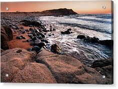 Acrylic Print featuring the photograph Sunset At Capo Pecora - Sardinia by Laura Melis
