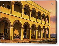 Acrylic Print featuring the photograph Sunset At Castillo De Salgar by Rob Tullis