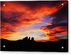 Acrylic Print featuring the photograph Sunset At Cathedral by Tom Kelly