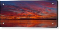 Sunset At Cheyenne Bottoms 1 Acrylic Print by Rob Graham