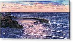 Sunset At Children's Pool Acrylic Print by John YATO