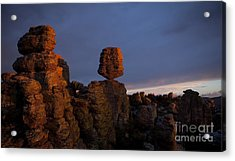 Acrylic Print featuring the photograph Sunset At Chiricahua by Keith Kapple