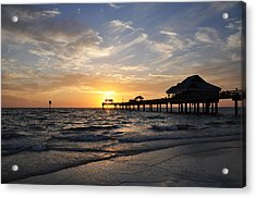 Sunset At Clearwater Acrylic Print by Bill Cannon