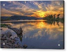 Sunset At Cook's Landing - Arkansas River Acrylic Print