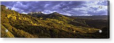 Acrylic Print featuring the photograph Sunset At Courthouse Mountain by Kristal Kraft