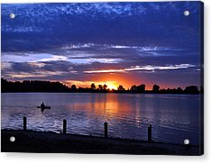 Sunset At Creve Coeur Park Acrylic Print