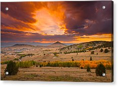 Sunset At Cripple Creek Overlook Acrylic Print