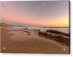 Sunset At Crystal Cove Hdr Acrylic Print by Angela A Stanton