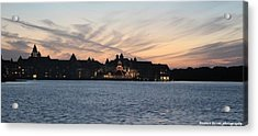 Sunset At Disney Acrylic Print