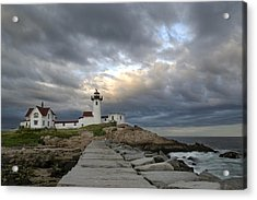Sunset At Eastern Point Lighthouse Acrylic Print