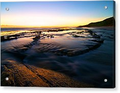 Sunset At Eleven Mile Acrylic Print by Sally Nevin