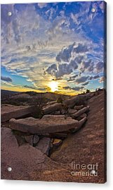 Sunset At Enchanted Rock State Natural Area Acrylic Print