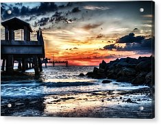 Sunset At Fort Desoto 2 Acrylic Print by Michael White