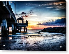 Sunset At Fort Desoto 3 Acrylic Print by Michael White