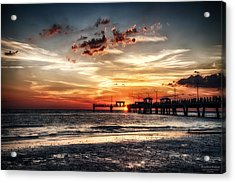 Sunset At Ft Desoto Acrylic Print