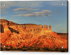 Acrylic Print featuring the photograph Sunset At Ghost Ranch by Alan Vance Ley