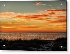 Sunset At Golden Beach Acrylic Print by Frank J Benz