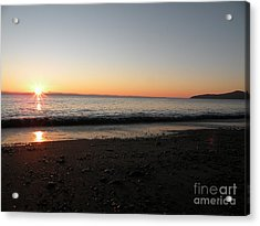 Sunset At Gordons Beach Acrylic Print by Val Carosella