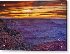 Sunset At Grand Canyon Acrylic Print by Andrew Soundarajan