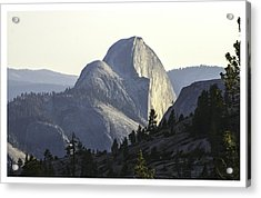 Sunset At Half Dome From Olmsted Pt Acrylic Print
