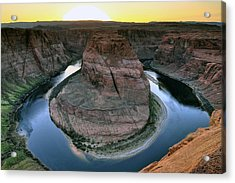 Acrylic Print featuring the photograph Sunset At Horseshoe Bend by Dan Myers