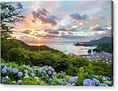Sunset At Hydrangea Hills Acrylic Print by Tommy Tsutsui