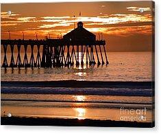 Sunset At Ib Pier Acrylic Print