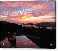 Sunset Over Zihuatanejo Bay Acrylic Print