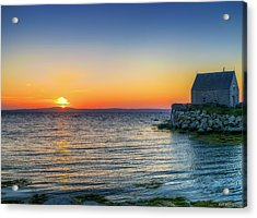 Sunset At Indian Harbour Acrylic Print by Ken Morris