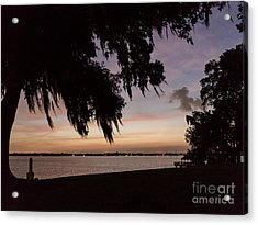 Sunset At Jefferson Island Acrylic Print by Kelly Morvant