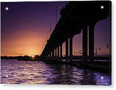 Sunset At Jensen Beach Acrylic Print