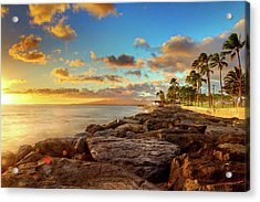 Sunset At Kakaako, Oahu Acrylic Print
