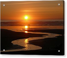 Sunset At Kalaloch Acrylic Print