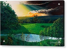Sunset At L Hermitiere Acrylic Print by Christian Simonian