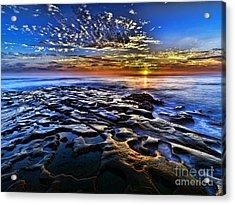 Sunset At La Jolla Tide Pools Acrylic Print