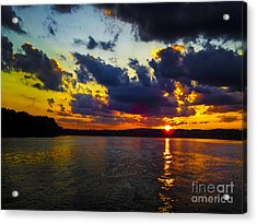 Sunset At Lake Logan Martin Acrylic Print