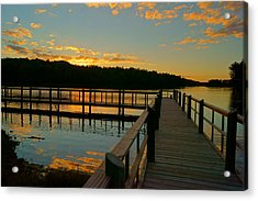 Acrylic Print featuring the photograph Sunset At Lake Mcintosh by Chris Fraser
