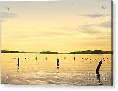 Acrylic Print featuring the photograph Sunset At Lake Muskoka by Les Palenik
